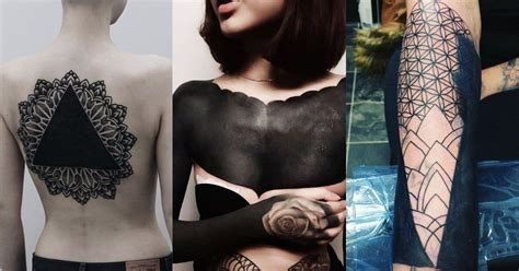 black work tattoos 30 beautiful blackwork tattoos that make a bold statement
