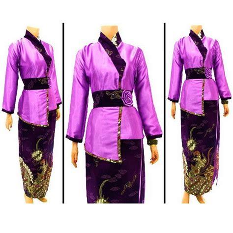 Atasan Kebaya Kode Rni 172 baju dan busana muslim wanita gamis batik muslimah ungu