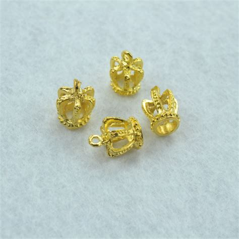 Gold 170pcs 50pcs metal charms gold color ᐊ 3d 3d crown pendants jewelry findings findings and components
