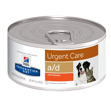 Prescription Diet Urgent Care Ad With Chicken 156gr Low Price hill s prescription diet a d urgent care with chicken canned cat food petco