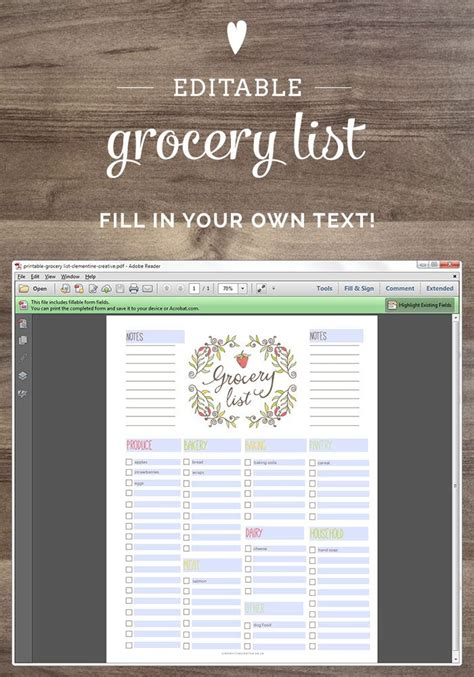 editable shopping list template best 25 grocery list printable ideas on free