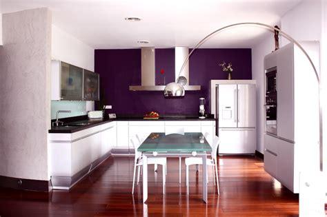 peinture aubergine cuisine peindre mur cuisine cuisine deco tendance salon gnial