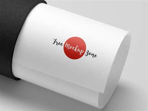 paper tube logo mockup psd   mockup zonefree mockup zone