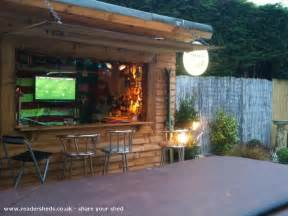 Tiki Hut Building Plans Lili S Bar Pub Entertainment From Back Garden Owned By