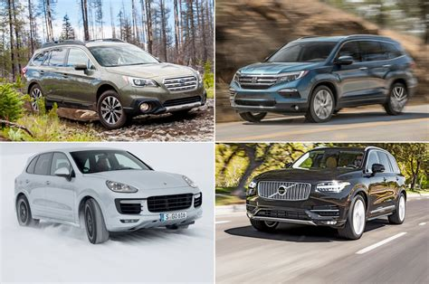 best road suv 10 road worthy car based crossovers and suvs motor trend