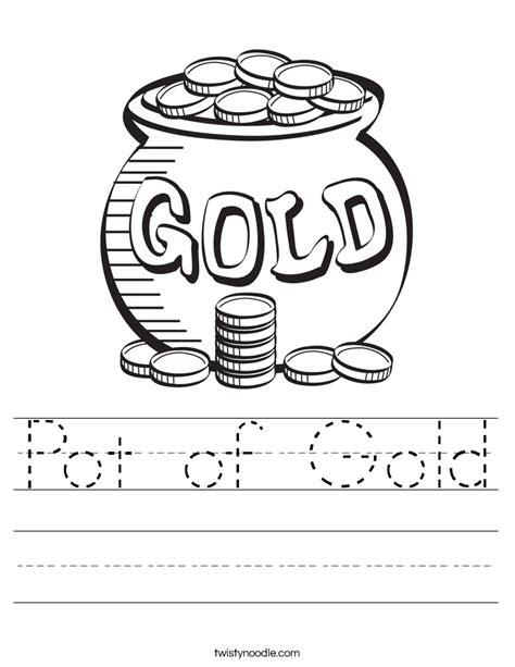 Gold Worksheets pot of gold worksheet twisty noodle