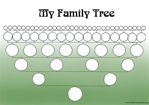 family tree template in a printable blank family tree to make your genealogy