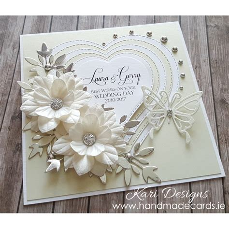 Wedding Handmade Cards - handmade wedding card