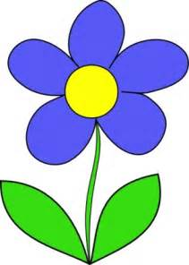 green blue simple outline yellow drawing flower flowers