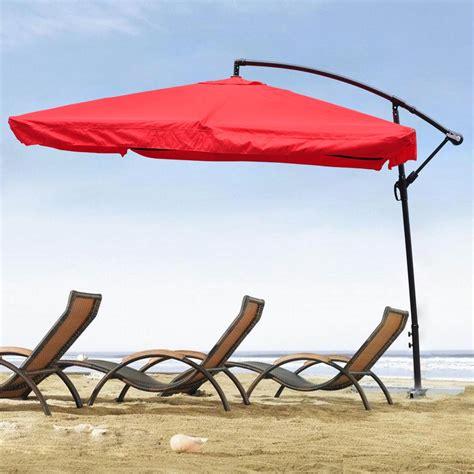 Square Offset Patio Umbrella 9x9 Square Aluminum Offset Umbrella Patio Outdoor Shade W Cross Base Stand Mesh Ebay