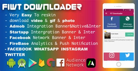 themes for whatsapp ad facebook instagram whatsapp twitter downloader with admob