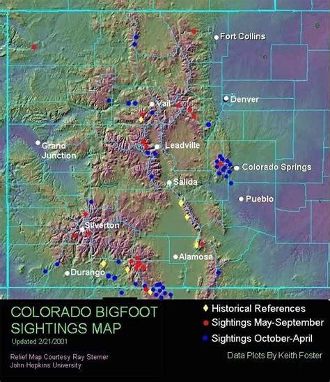 Sightings Sightings And More Sightings by Colorado Bigfoot Sightings Map Cbell