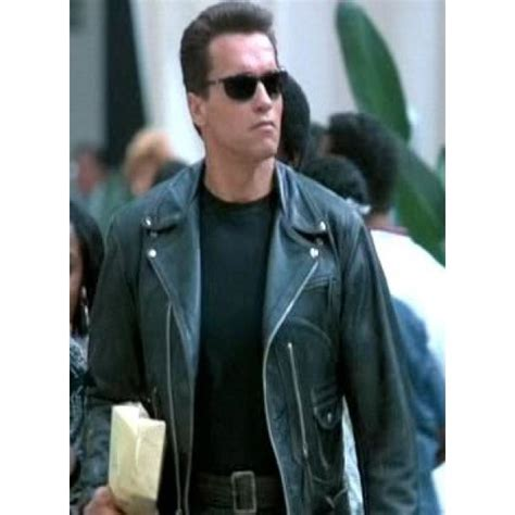 The terminator 2 judgment day black jacket arnold schwarzenegger motorcycle leather jacket