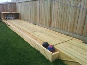Kids Backyard Playground by Amazing Diy Wood Backyard Bowling Alley 1001 Gardens