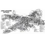 Avro Lancaster Cutaway  From Fiddlers Green Makers Of