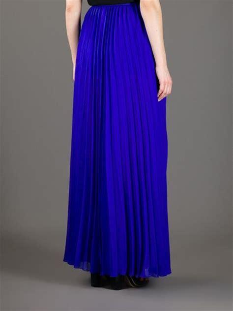 iceberg pleated maxi skirt in blue cobalt lyst