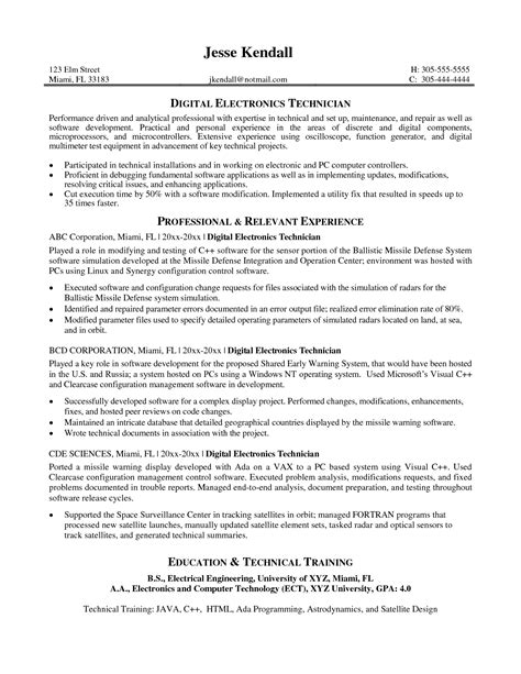Electronic Repair Sle Resume by Electronics Repair Sle Resume Mitocadorcoreano
