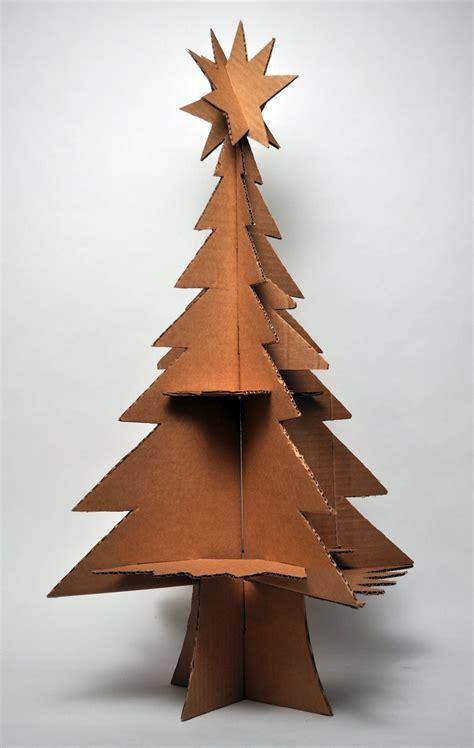 how to make a 3ft cardboard christmas tree hutch studio a cardboard