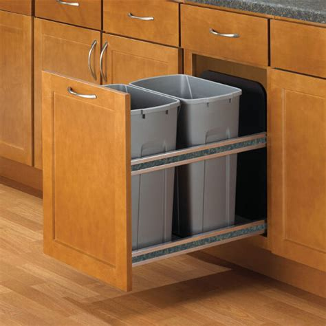 Kitchen Recycling Bins For Cabinets Knape Vogt Soft Undermount Waste Recycling Bins 2 X 35 Quarts 2 X 8 75