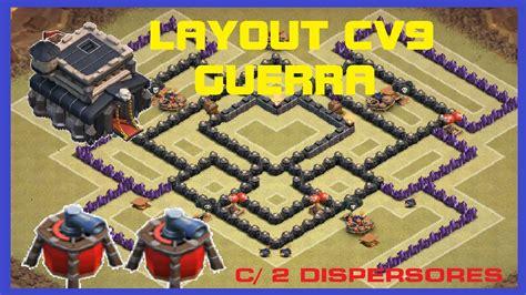 layout cv9 war youtube layout guerra cv9 2 air sweeper 2 dispersor a 233 reo new