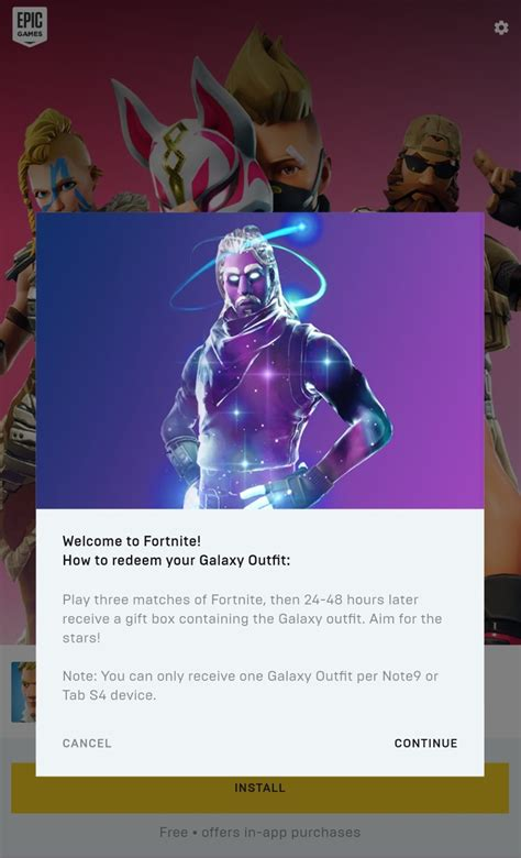 galaxy skin  fortnite  android