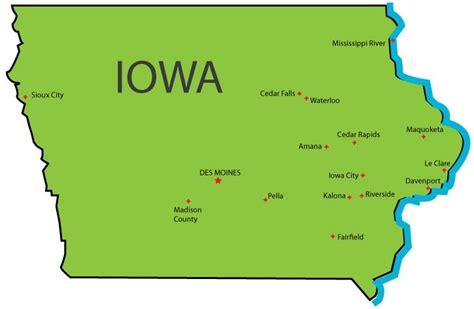 iowa state map iowa state map