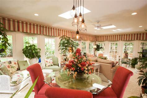 north carolina garden sunroom tropical dining room