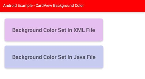 xml layout background color android how to change cardview background color