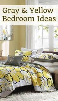 Gray and yellow bedroom ideas bedding decor pictures diy ideas and