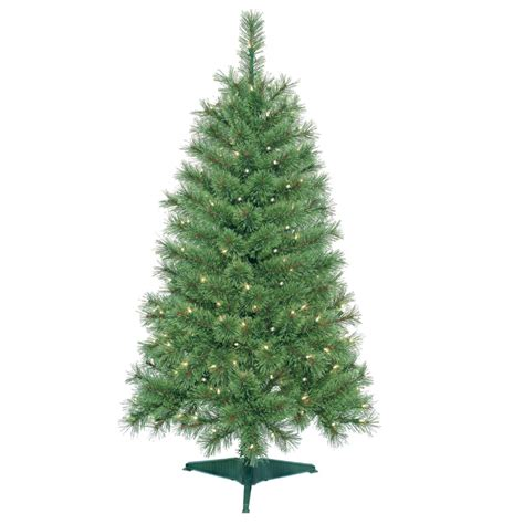 4 feet pre lit artificial christmas tree