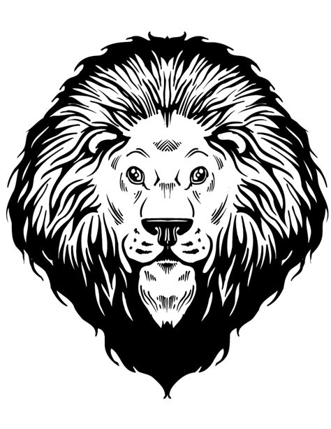 coloring page lion face free coloring pages of lion head