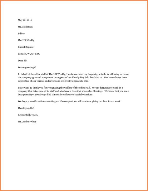thank you letter appreciation sample thank you letters appreciation