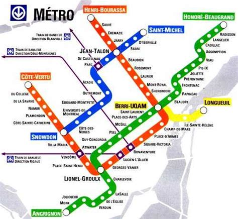 montreal metro map looking for a map of montreal with the subway underneath to where these stops are montreal