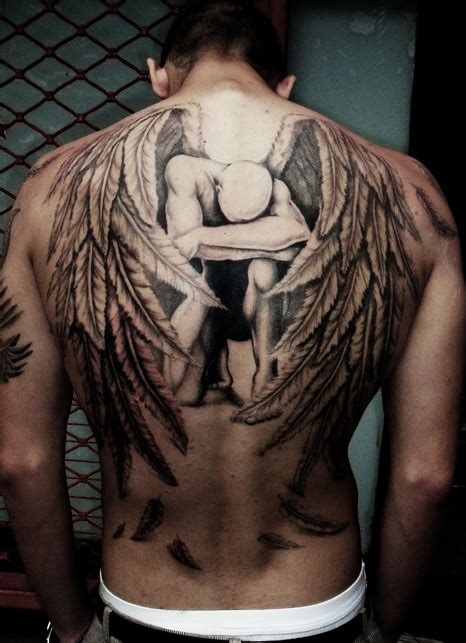 tattoo angel wings back wings tattoos page 37