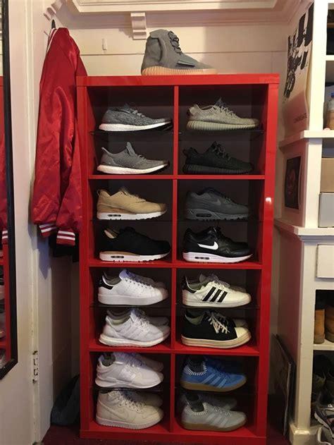 ikea kallax shoe storage 25 best ideas about sneaker storage on pinterest