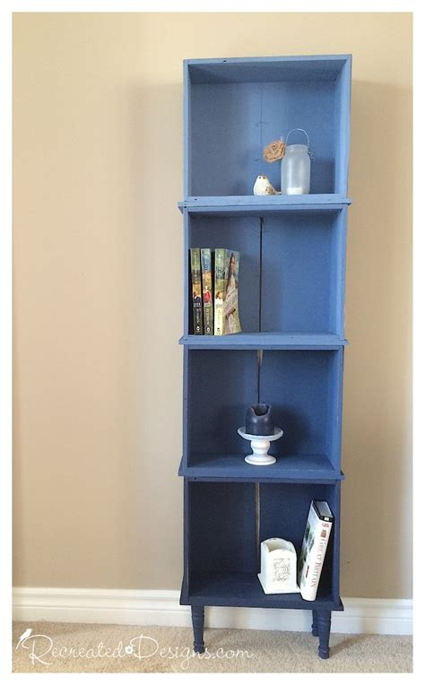 ombre bookcase from dresser drawers diy furniture makeovers