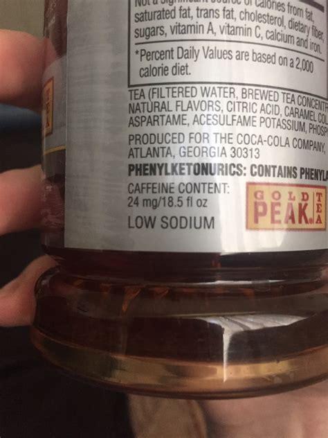 Gold Peak Iced Tea, Diet: Calories, Nutrition Analysis