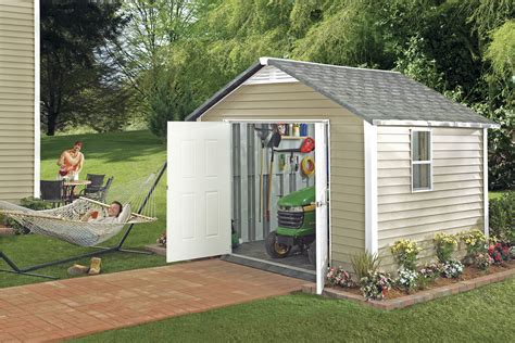 shop royal outdoor products 10 x 10 esquire ultra vinyl echanting outdoor storage shed with lowes shed kits 100