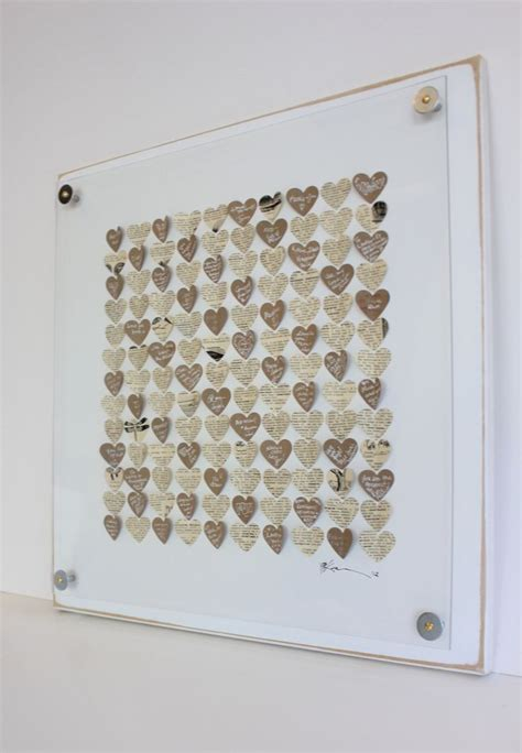 frame alternatives unique wedding guest book framed wall art guest book alternative 3d heart guestbook rustic
