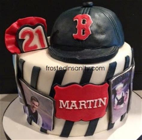 frosted insanity boston red sox st birthday cake