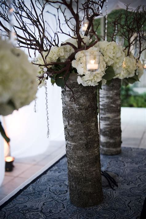 Vase Arrangements Branches by Wedding Lace Wrapped Vase With Flowers Branches With