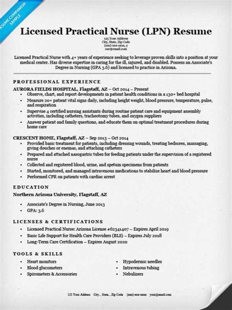 Licensed Practical Nurse (LPN) Resume Sample & Tips