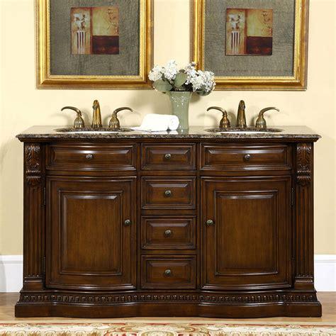60 inch bathroom double sink vanity cabinet granite stone