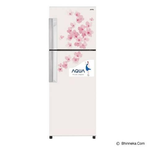 Kulkas Sanyo Aqua 2 Pintu jual aqua kulkas 2 pintu aqr d259fw flower white murah bhinneka