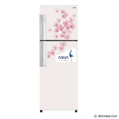 Kulkas Merek Aqua jual aqua kulkas 2 pintu aqr d259fw flower white murah