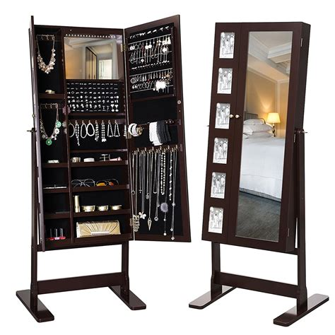 large free standing jewelry armoire the 15 best standing mirror jewelry armoires zen