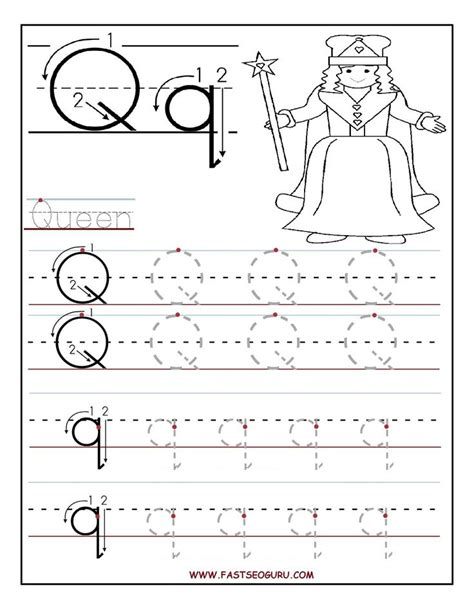 printable name tracing letters printable letter q tracing worksheets for preschool word
