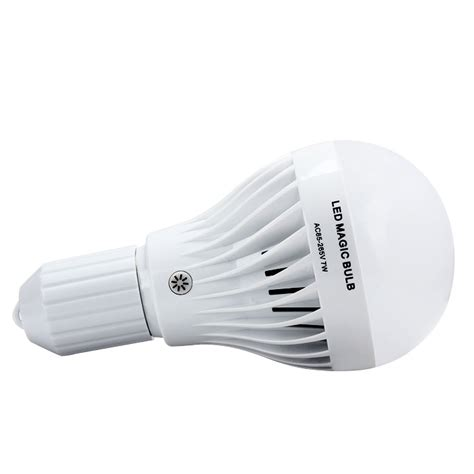 Yanuo Rechargeable Emergency Bulb Light White 7w e27 white led rechargeable emergency magic bulb light