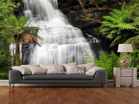 bedroom waterfalls custom landscape wallpaper 3d rainforest waterfall for living room bedroom kitchen background