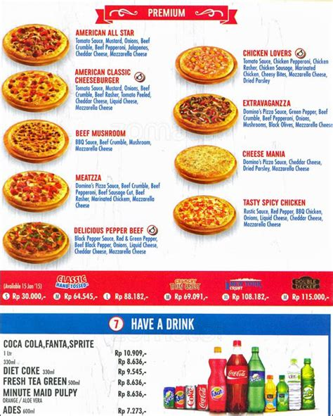 Domino Pizza Indonesia | harga menu domino pizza indonesia delivery terbaru 2017